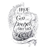 Hope Does Not Disappoint Us Romans 5:5 handlettering art print