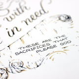 Don't forget to do good - Hebrews 13:16 handlettered art print