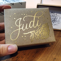 Added gold embossing - affirmations card pack