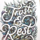 Trust & Rest - Limited edition 5x7inch giclee print