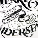 Trust in the Lord - Proverbs 3:5 art print - A4 handlettering print