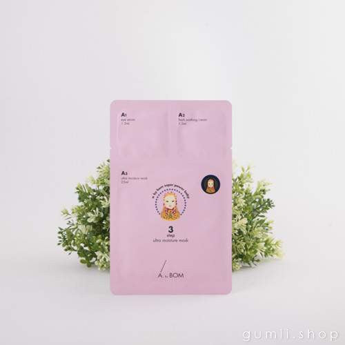 A by Bom Super Power Baby Skin 3 Step Moisturizing Sheet Mask, sheetmask,A by Bom, asian skincare