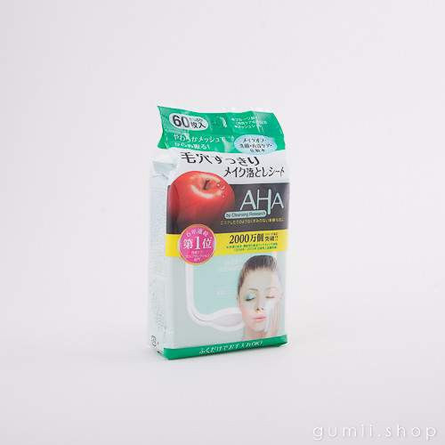 AHA Makeup Cleansing Wipes by BCL CLEANSING RESEARCH, sheetmask,AHA, asian skincare