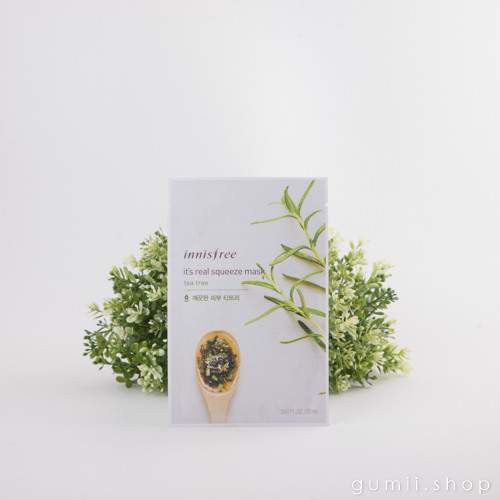 Innisfree It's Real Squeeze Cleansing Mask Sheet Tea Tree