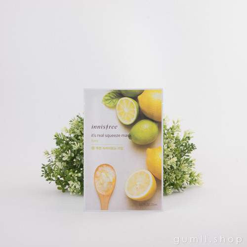 innisfree It's Real Squeeze Sheet Mask Brightening Lime