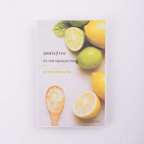 innisfree It's Real Squeeze Sheet Mask Brightening Lime, sheetmask,innisfree, asian skincare
