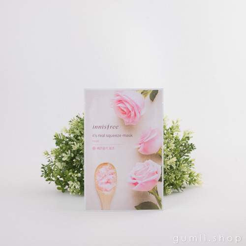Innisfree It's Real Squeeze Moisturizing Mask Sheet Rose,Sheet Mask,innisfree, Asian skin care