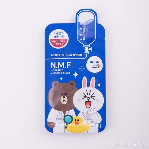 Mediheal Line Friends  N.M.F All Friends Moisturizing Mask, sheetmask,Mediheal, asian skincare