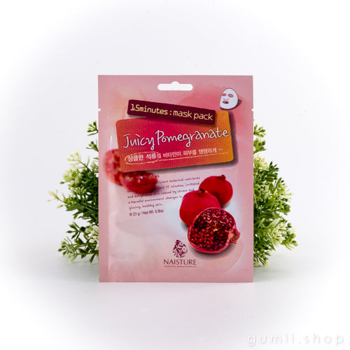 Naisture 15 Minute Mask - Pomegranate, sheetmask,Naisture, asian skincare