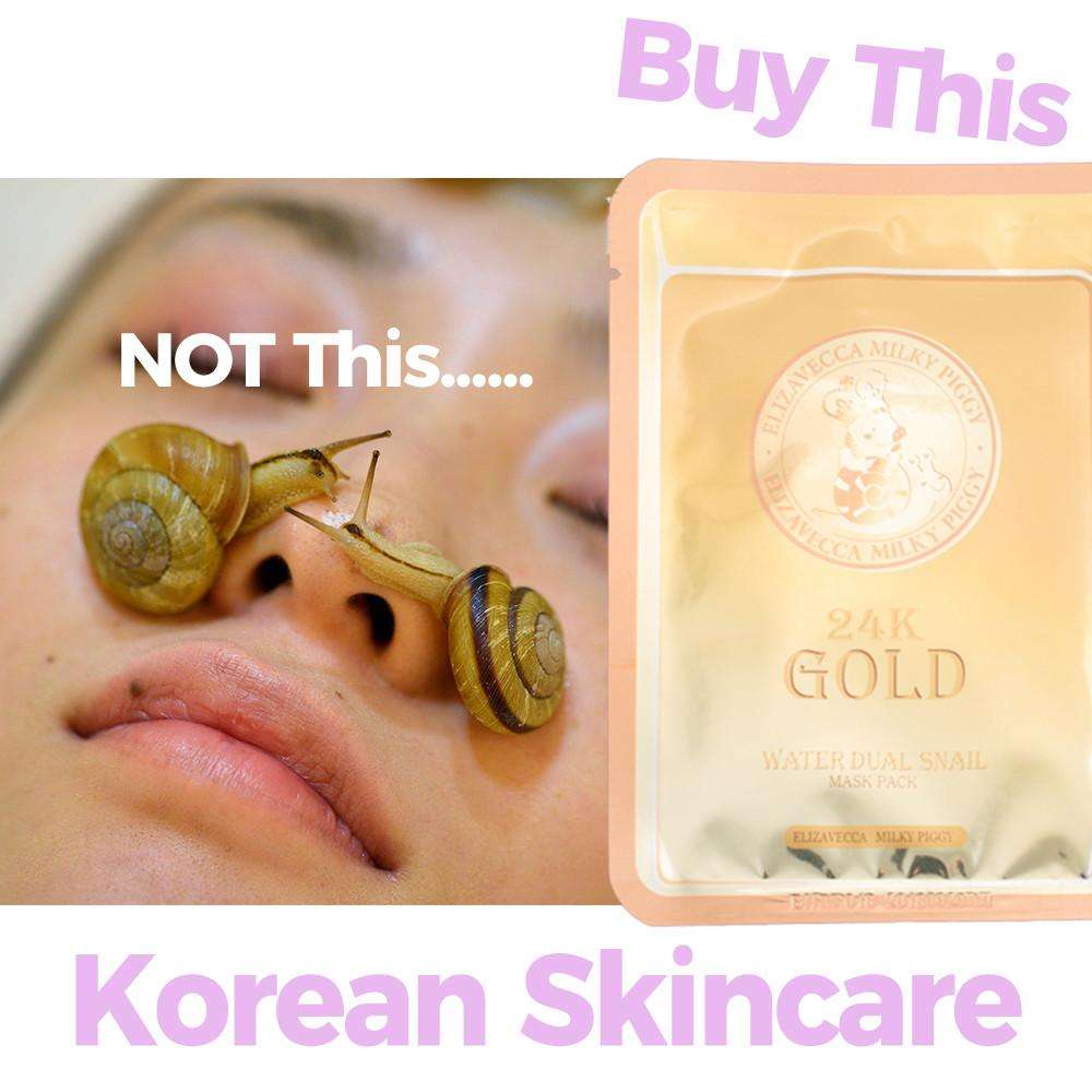 Elizavecca 24K Gold Waterdew Snail Milky Piggy Anti-Aging Sheet Mask,Sheet Mask,Elizavecca, Asian skin care