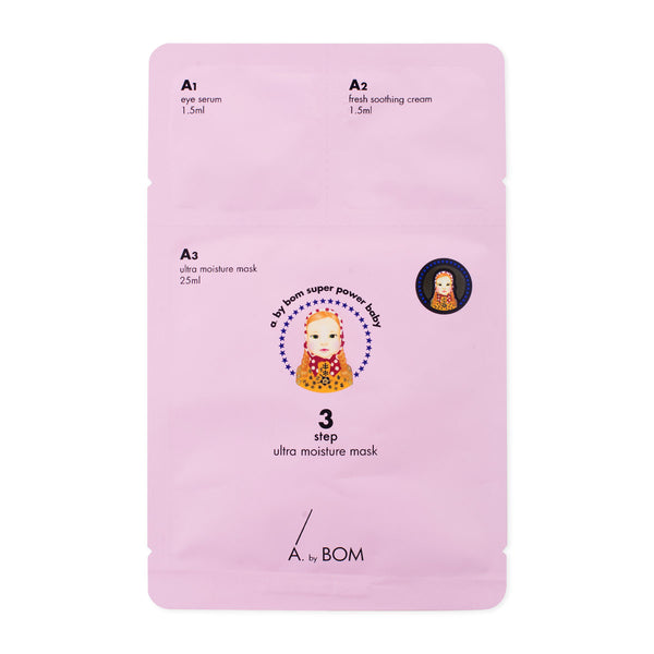A by Bom Super Power Baby Skin 3 Step Moisturizing Sheet Mask