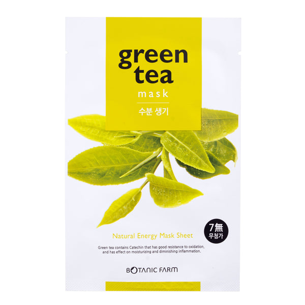 Botanic Farm Green Tea Natural Energy Mask Sheet