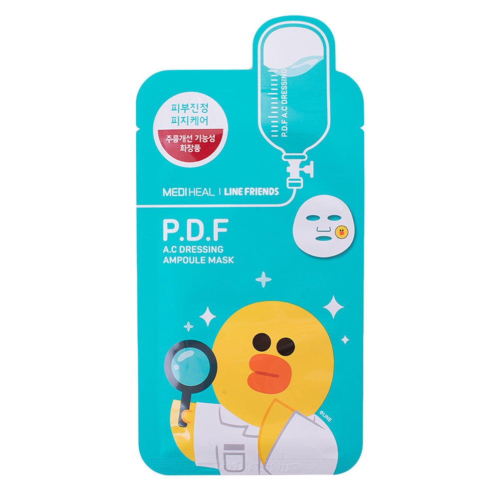 Mediheal Line Friends  P.D.F. AC DUCK Mask, sheetmask,Mediheal, asian skincare
