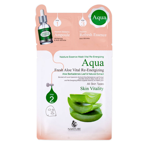Naisture 3 Step Mask Fresh Aloe Vital Re-energizing Skin Vitality Mask