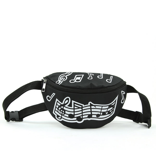 Musical Notes Fanny Pack Bag in Vinyl