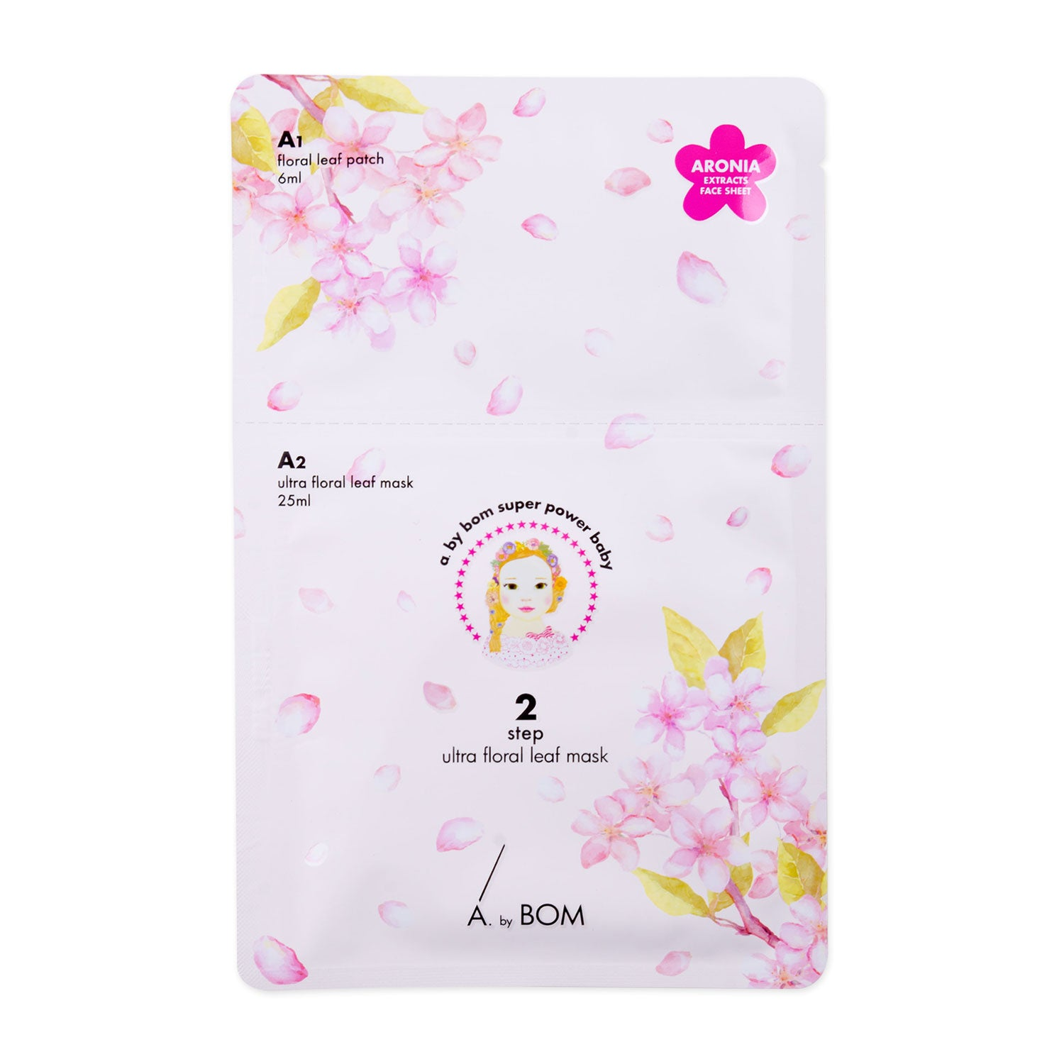 A By Bom 2-Step Super Power Baby Ultra Floral Mask, sheetmask,A by Bom, asian skincare