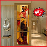 African wall art 3 piece set