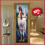 awesome chicken coop art canvas