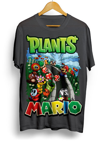 plants vs mario shirt