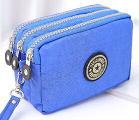 Denim 3 zippper Purse