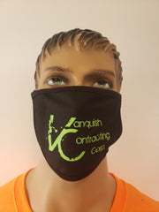Personalized dust mask with Vanquish Contracting Logo