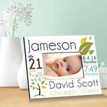 Load image into Gallery viewer, Personalized Baby Announcement Picture Frame | JDS