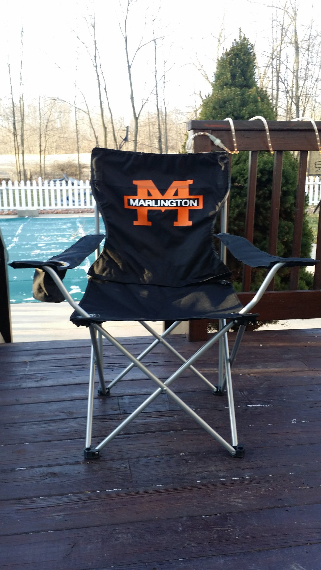 Custom Designed Folding Chairs With Your Personal Or Business Logo.