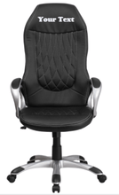 Load image into Gallery viewer, Custom Designed High Back Swivel Executive Chair With Your Personalized Name & Graphic