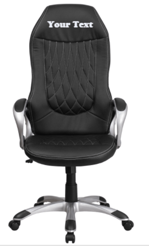 Custom Designed High Back Swivel Executive Chair With Your Personalized Name & Graphic