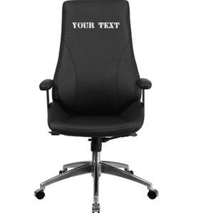 Custom Designed High Back Executive Chair With Your Personalized Name & Graphic