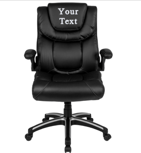 Custom Designed Double Layered Executive Office Chair With Your Personalized Name & Graphic