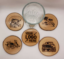 Load image into Gallery viewer, Custom Personalize Your Own Laser Engraved Coasters (Set of 4) | DG Custom Graphics