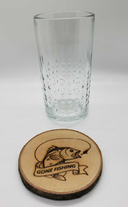 Custom Personalize Your Own Laser Engraved Coasters (Set of 4) | DG Custom Graphics