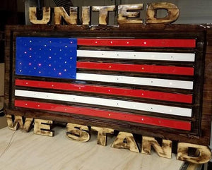 Custom Carved Wooden Signs | American Flag Sign | Patriotic Sign | Made in America | DG Custom Graphics