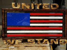 Load image into Gallery viewer, Custom Carved Wooden Signs | American Flag Sign | Patriotic Sign | Made in America