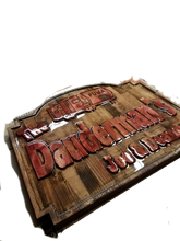 Load image into Gallery viewer, Custom Carved Wooden Signs | Cabin Signs | Lake House Signs | ManCave Signs | Personalized Wood Sign | DG Custom Graphics