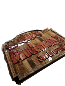 Custom Carved Wooden Signs | Cabin Signs | Lake House Signs | ManCave Signs | Personalized Wood Sign | DG Custom Graphics