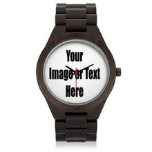 Load image into Gallery viewer, Personalized Wood Watch with Full Color Artwork, Photo or Logo