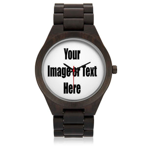 Personalized Wood Watch with Full Color Artwork, Photo or Logo