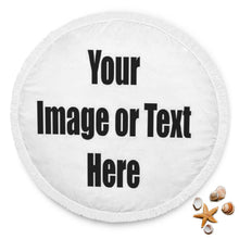 Load image into Gallery viewer, Personalized Circle Beach Blanket with Full Color Artwork, Photo or Logo