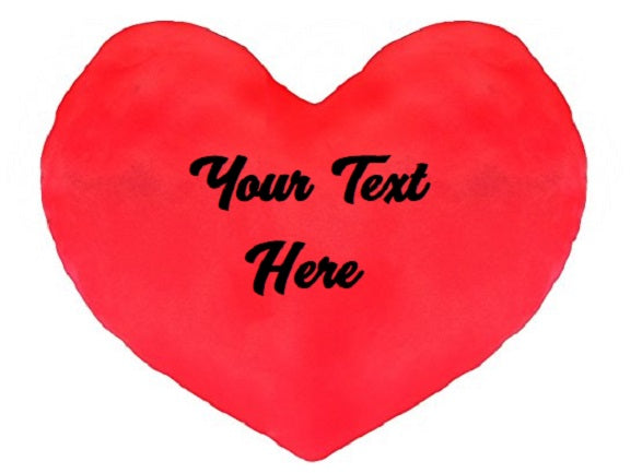 Custom Personalized Designed Heart Shaped Pillow (Valentines, Wedding, Christmas) | DG Custom Graphics
