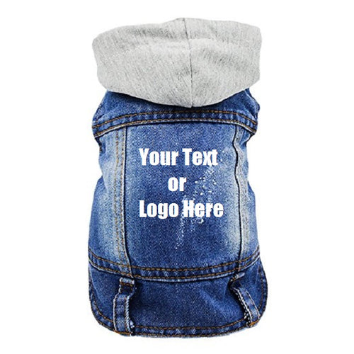 Custom Personalized Design Your Own Dog Hoodie Denim Jacket Sweatshirt (Pet Clothing)