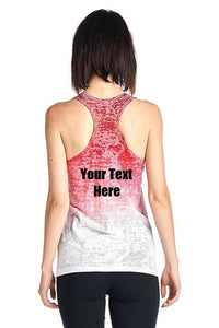 Custom Personalized Designed Women's Ombre Burnout Workout Tank Tops | DG Custom Graphics
