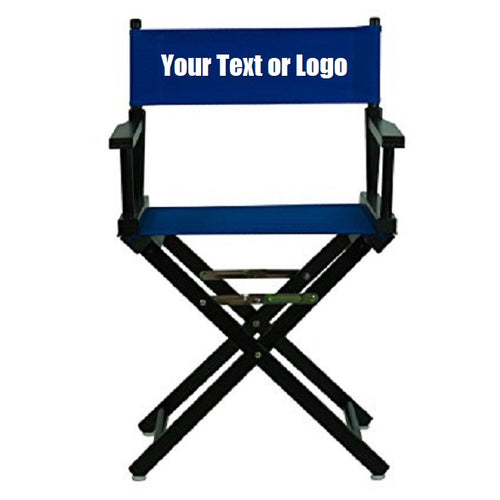 Custom Designed Folding Directors Chair With Your Personal Or Business Logo.