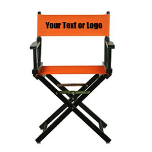 Custom Designed Folding Directors Chair With Your Personal Name Or Business Logo