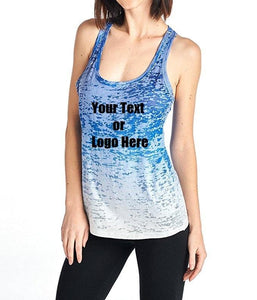 8bcd0c5f13ef63 Custom Personalized Designed Women s Ombre Burnout Workout Tank Tops ...