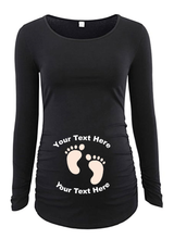 Load image into Gallery viewer, Custom Personalized Designed Long Sleeve Maternity T-shirt | DG Custom Graphics
