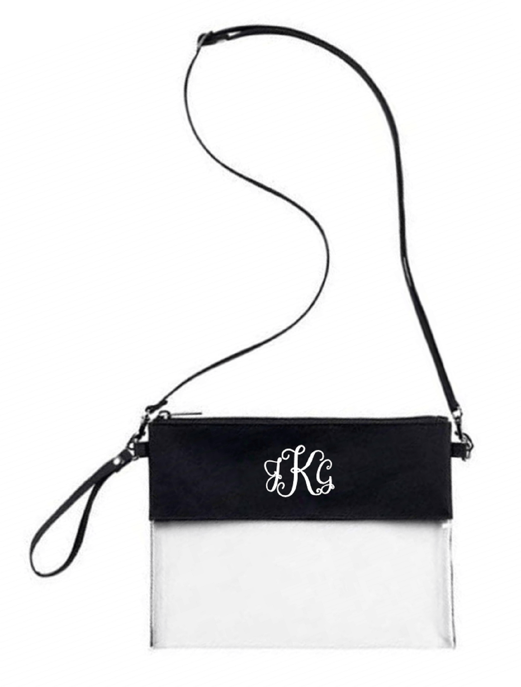 Custom Monogrammed or Personalized Purse/Clear Stadium Bag/Crossbody Bag/Stadium Purse | DG Custom Graphics