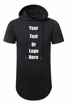 Load image into Gallery viewer, Custom Personalized Design Your Own Hipster Hip Hop Short Sleeve Longline Pullover Hoodie Shirt | DG Custom Graphics