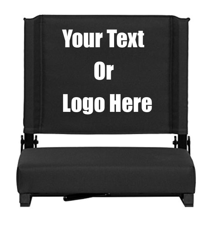 Custom Personalized Durable Stadium Chair with 3